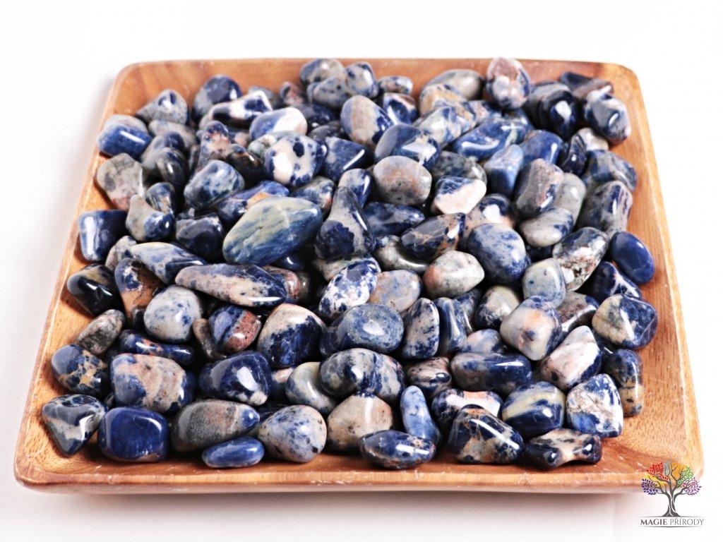 Tromlované kamínky Sodalit L - kameny o velikosti 25 - 40 mm - 100g - Brazílie  + sleva 5% po registraci na většinu zboží + dárek k objednávce