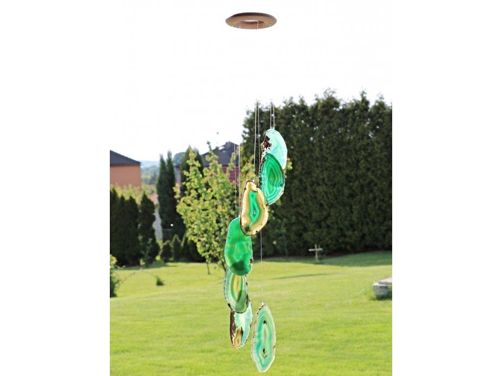Achátová zvonkohra zelená - z přírodního kamene #01 - náhodný výběr