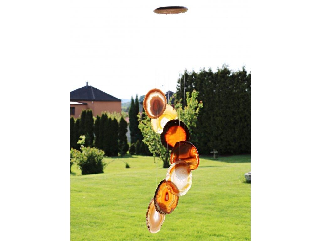 Achátová zvonkohra - z přírodního kamene #03 - náhodný výběr  + sleva 5% po registraci na většinu zboží + dárek k objednávce