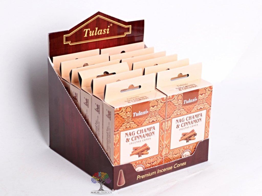 Vonné františky Tulasi Nag Champa Cinnamon - Skořice 15 ks - #01  + sleva 5% po registraci na většinu zboží + dárek k objednávce