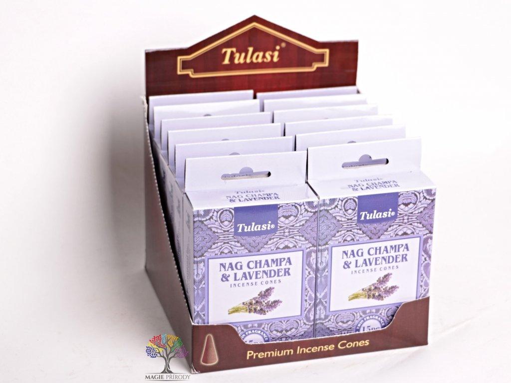 Vonné františky Tulasi Nag Champa Lavender - Levandule 15 ks - #06