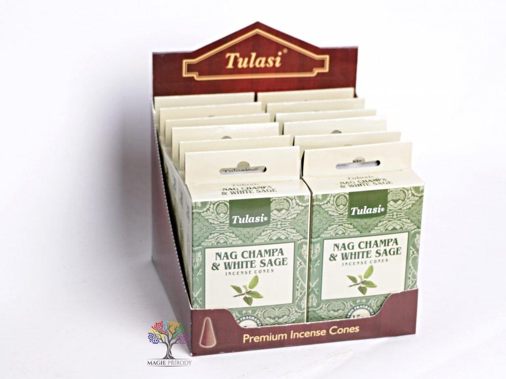 Vonné františky Tulasi Nag Champa White Sage - Bílá Šalvěj 15 ks - #08  + sleva 5% po registraci na většinu zboží + dárek k objednávce