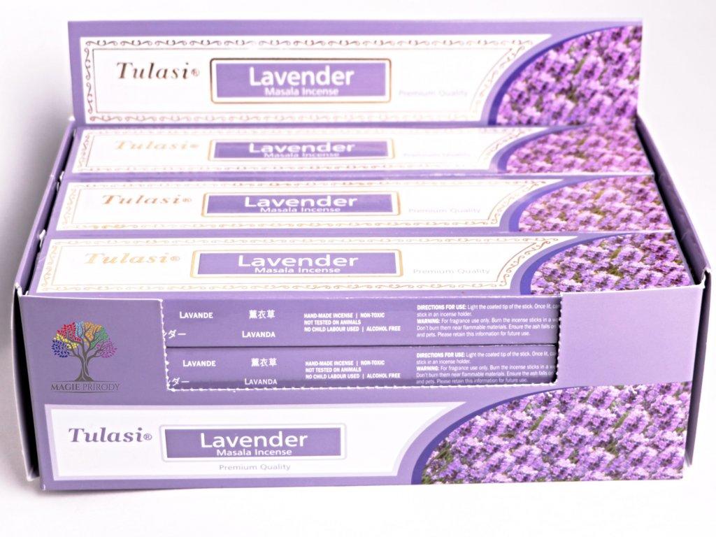Vonné tyčinky Tulasi Premium Lavender - vůně Levandule - 12 ks - #26