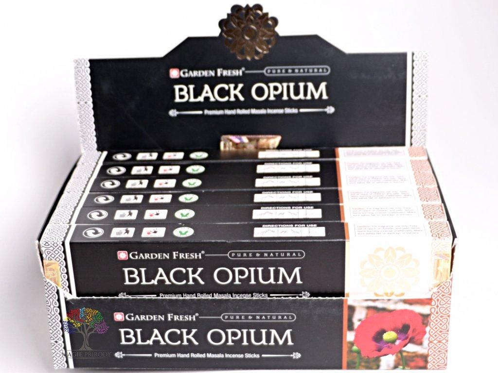 Vonné tyčinky Garden Fresh Premium Black Opium - 12 ks - #27
