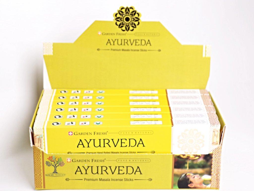 Vonné tyčinky Garden Fresh Premium Ayurveda - 12 ks - #28