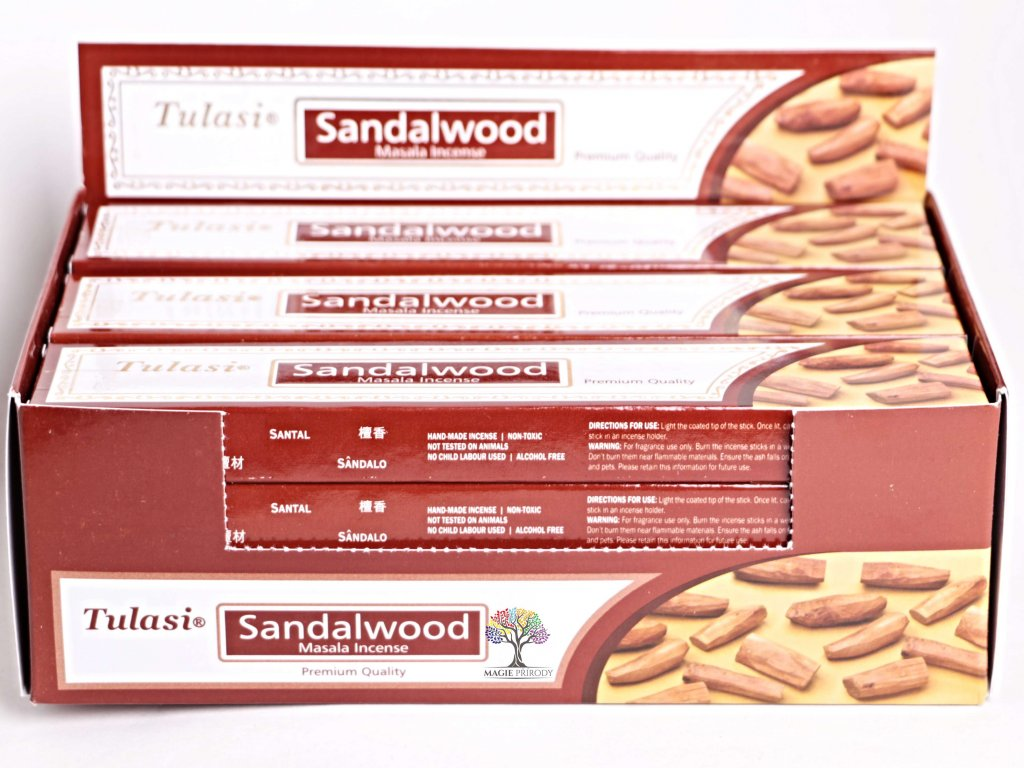 Vonné tyčinky Tulasi Premium Sandalwood - 12 ks - #30