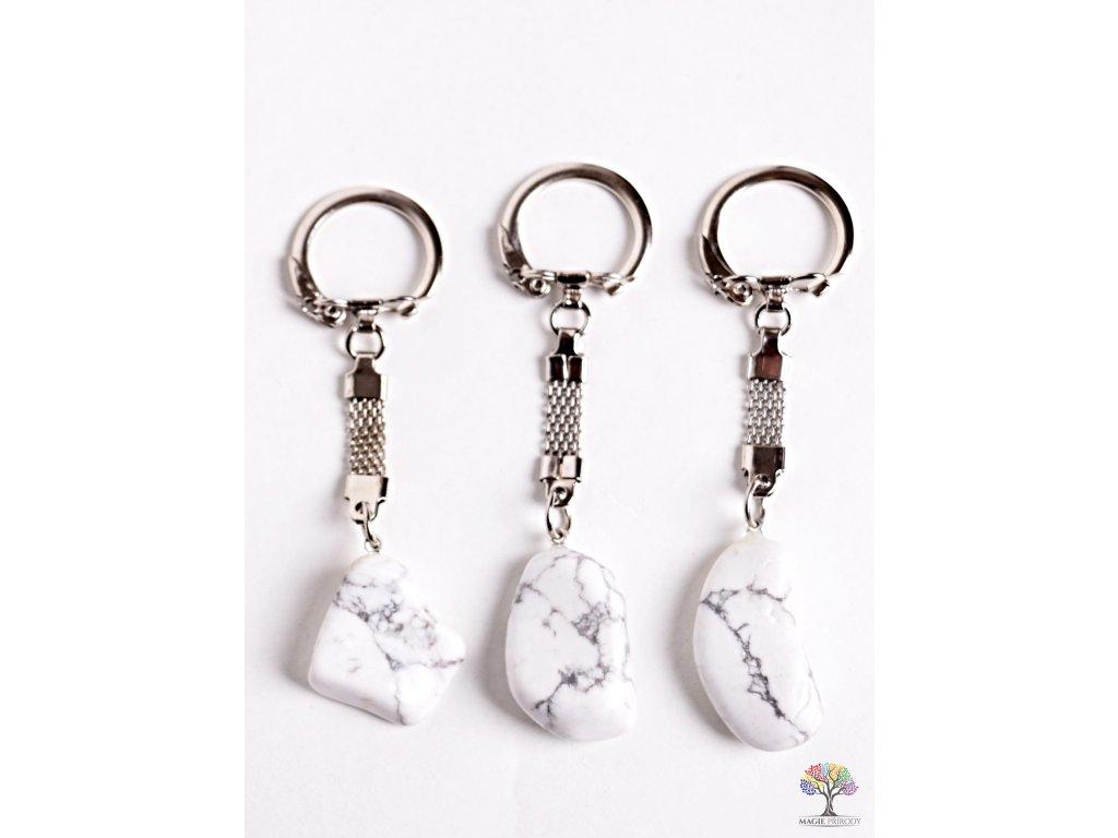 Přívěsek na klíče kámen Magnezit #113 - klíčenka  + sleva 5% po registraci na většinu zboží + dárek k objednávce