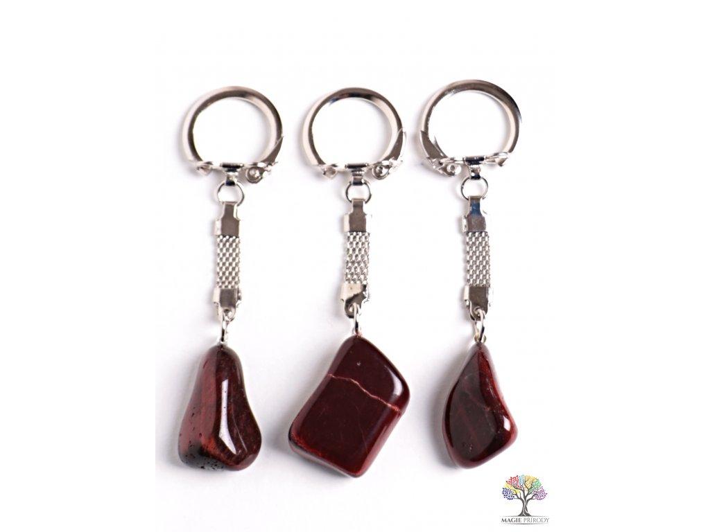 Přívěsek na klíče kámen Byčí Oko #123 - klíčenka  + sleva 5% po registraci na většinu zboží + dárek k objednávce