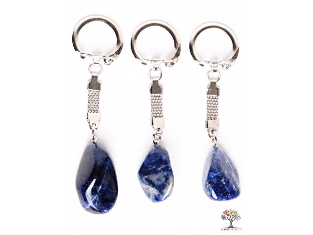 Přívěsek na klíče kámen Sodalit #126 - klíčenka  + sleva 5% po registraci na většinu zboží + dárek k objednávce