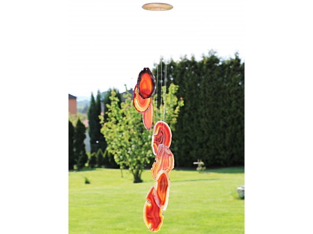 Achátová zvonkohra červená - z přírodního kamene #06 - náhodný výběr  + až 10% sleva po registraci