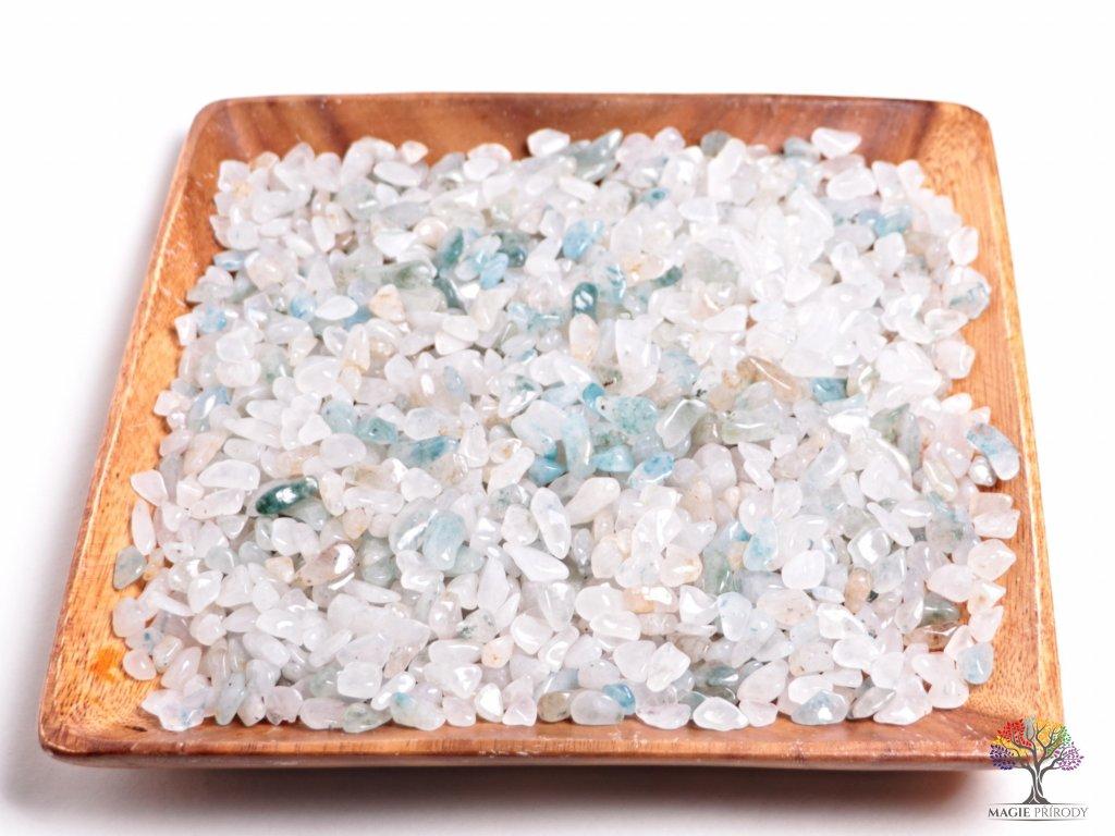 Tromlované kamínky Apatit v křemeni (Aqualite) S - kameny o velikosti 15 - 25 mm - 100g - Afrika