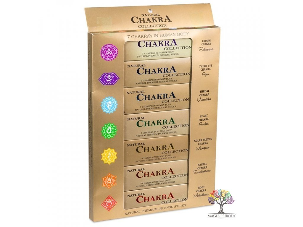 Vonné tyčinky 7 Chakra Premium collection  - 105 ks