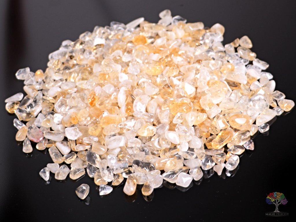 Tromlované kamínky Citrín S - kameny o velikosti 15 - 25 mm - 100g - Brazílie