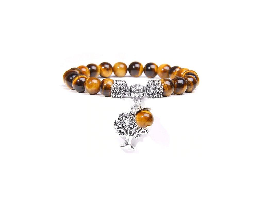 náramek tygří oko strom života