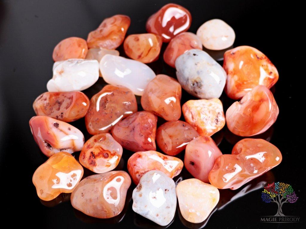 Tromlované kamínky Karneol - XXL - kameny o velikosti 35 - 105 mm - 100 g - Brazílie