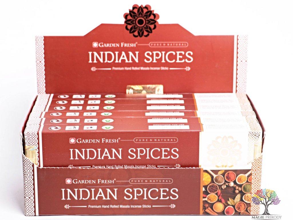 Vonné tyčinky Garden Fresh Premium Indian spices - 12 ks - #37