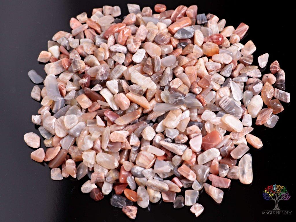 Tromlované kamínky Měsíční kámen S - kameny o velikosti 15 - 25 mm - 100 g - Brazílie