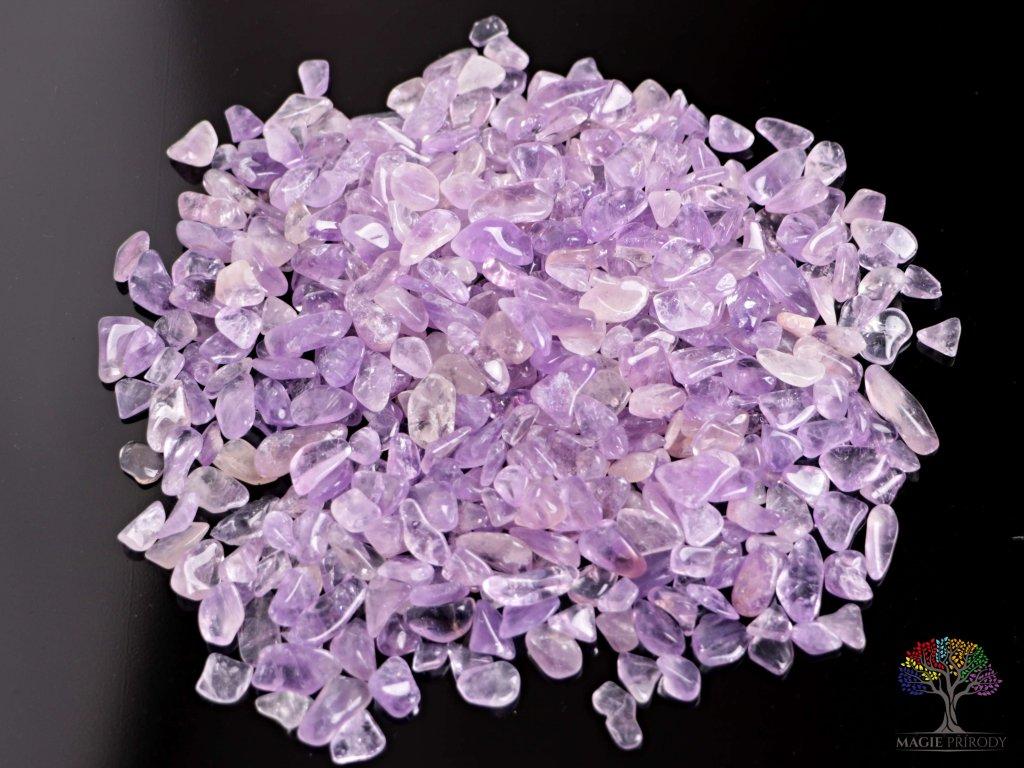 Tromlované kamínky Ametrín S - kameny o velikosti 15 - 25 mm - 500 g - Bolívie
