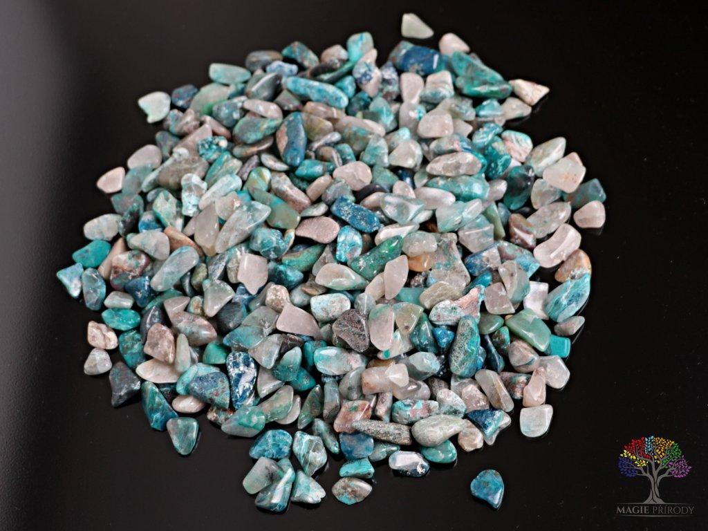 Tromlované kamínky Shattuckit S - kameny o velikosti 15 - 25 mm - 100 g - Kongo  + až 10% sleva po registraci
