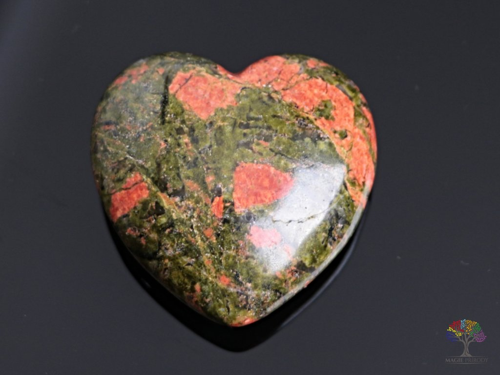 Srdce Unakit 40x40 mm - Unakitové srdce #09