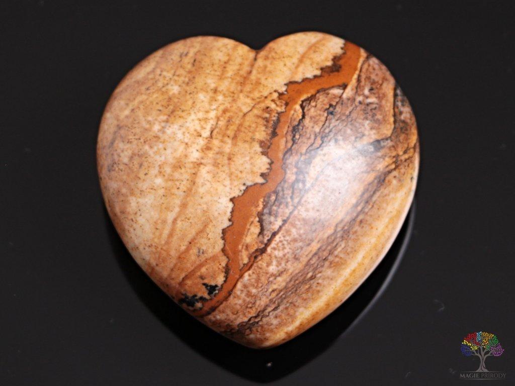 Srdce Jaspis obrázkový 40x40 mm - Jaspisové srdce #06
