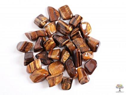 Tromlované kamínky Tygří oko XL - kameny o velikosti 30 - 55 mm - 1 kg - Brazílie  + až 10% sleva po registraci