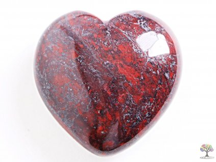 Srdce Jaspis s hematitem 40x40 mm - Jaspisové srdce  #12  + až 10% sleva po registraci