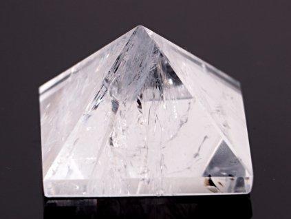 Křišťál pyramida 45x 45 mm - TOP kvalita - leštěná křišťálová pyramida #04