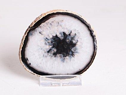 Achátový plát - velikost 8 cm + stojánek - Top kvalita - 262