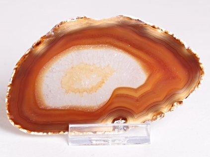 Achátový plát - velikost 10 cm + stojánek - Top kvalita - 322