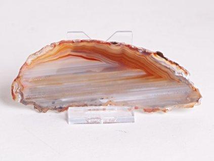 Achátový plát - velikost 12 cm + stojánek - Top kvalita - 337