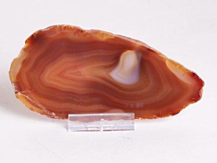 Achátový plát - velikost 12 cm + stojánek - Top kvalita - 338