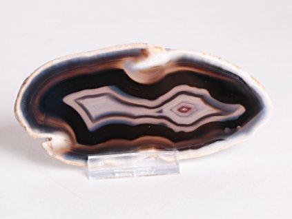 Achátový plát - velikost 12 cm + stojánek - Top kvalita - 342