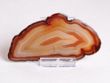Achátový plát - velikost 11 cm + stojánek - Top kvalita - 345
