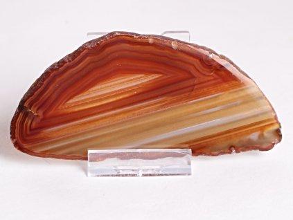 Achátový plát - velikost 11 cm + stojánek - Top kvalita - 349