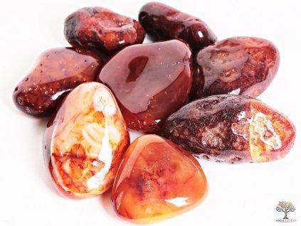 Tromlované kamínky Karneol JUMBO XL - kameny o velikosti 70 - 110 mm - 1kg - Brazílie