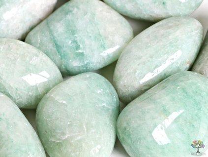Tromlovaný kámen Amazonit JUMBO XL velikosti 70 - 110 mm - Brazílie #17