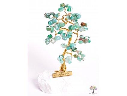 Achátový stromeček štěstí 15 cm - B1 - #93