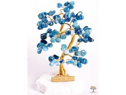 Achátový stromeček štěstí 15 cm - B1 - #94