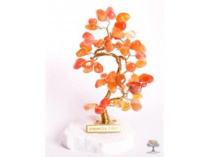 Karneolový stromeček štěstí 14 cm - B0 - #95  + sleva 5% po registraci na většinu zboží + dárek k objednávce