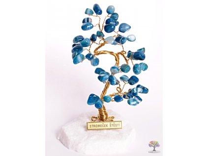 Achátový stromeček štěstí 14 cm - B0 - #96