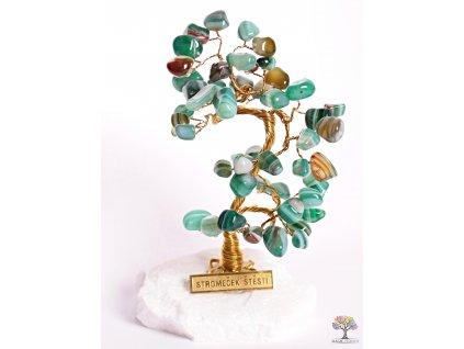 Achátový stromeček štěstí 14 cm - B0 - #97