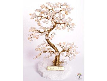 Citrínový stromeček štěstí 17 cm - A2 - #99