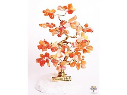 Karneolový stromeček štěstí 18 cm - B2 - #104  + sleva 5% po registraci na většinu zboží + dárek k objednávce