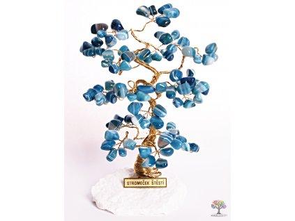 Achátový stromeček štěstí 18 cm - B2 - #106