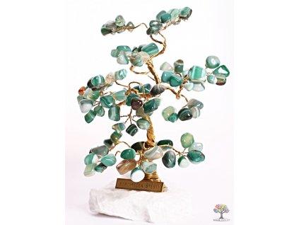 Achátový stromeček štěstí 18 cm - B2 - #107
