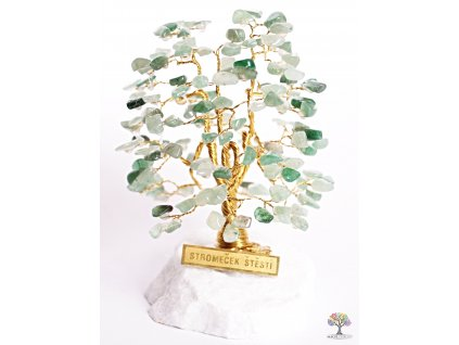 Avanturinový stromeček štěstí 12 cm - A1 - #113