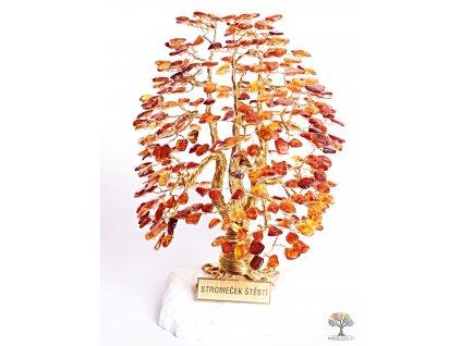 Jantar stromeček štěstí 20 cm - A3 - #116  + sleva 5% po registraci na většinu zboží + dárek k objednávce
