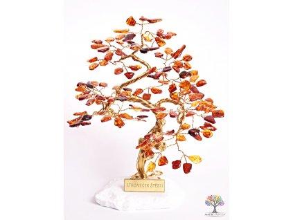 Jantarový stromeček štěstí 25 cm - B3 - #123
