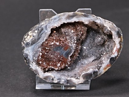 Achát peříčkový 8 cm - geoda - Top kvalita - #53